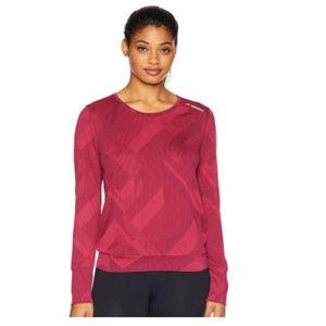 brooks array long sleeve plum long sleeve shirt